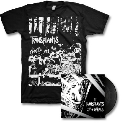 Transplants - In a Warzone LP - Black & Running Kids Tee
