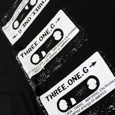 three-one-g - Three One G Cassette Tee (Black)