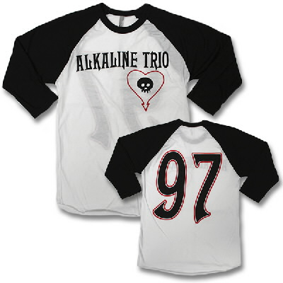 Alkaline Trio - Baseball Tee (Blk Body/Wht Sleeve) - Mens