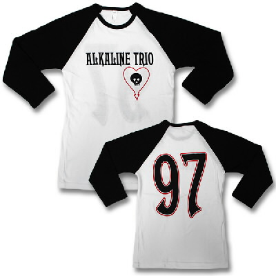 alkaline-trio - Baseball Tee (Wht Body/Blk Sleeve) - Women's