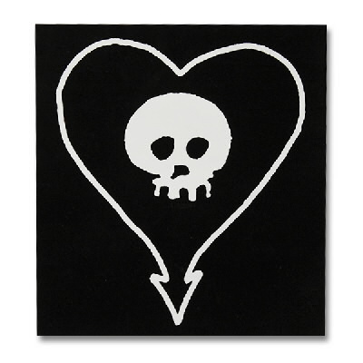 Alkaline Trio - Heartskull Vinyl Sticker