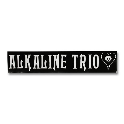 Alkaline trio logo text vinyl sticker
