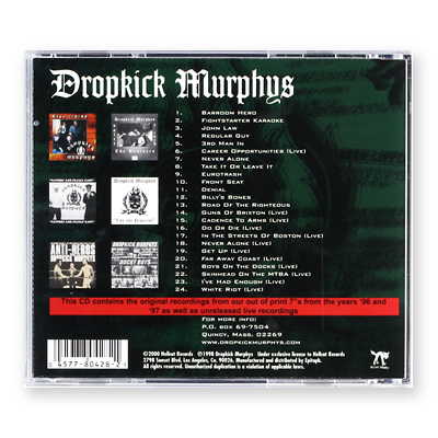 singles in murphys Released in the us in 2000, the singles collection: 1996-1997 isn't a best-of cd rather, the 24 songs on this good to excellent collection fall into two main categories: singles from 1996.