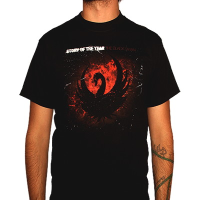 Story of the Year Black Swan Album Art Shirt