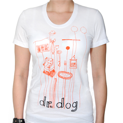 IMAGE | Dr Dog - Objects-Womens White Shirt