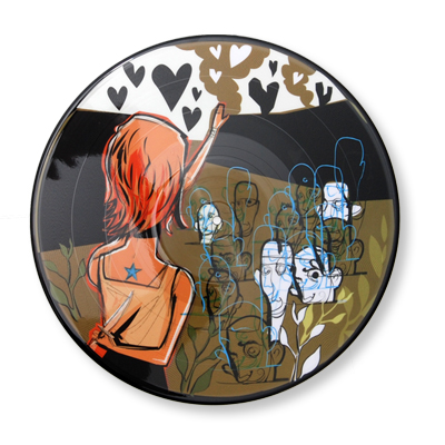 IMAGE | Alkaline Trio - Alkaline Trio/ Hot Water Music Split Picture Disc