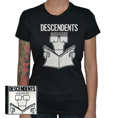 IMAGE | Descendents - Womens Everything Sucks CD & Shirt (Black)
