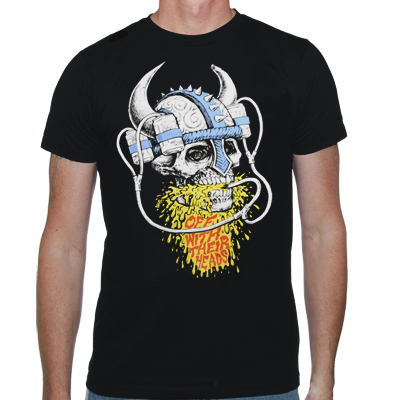IMAGE | Off With Their Heads - Viking Beer Helmet Shirt