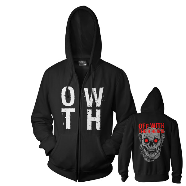 IMAGE | Off With Their Heads - Skull Snake Hoodie