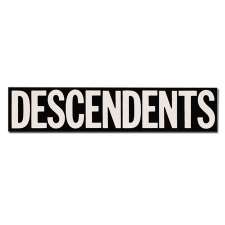 "IMAGE | Descendents - Descendents Vinyl Sticker Black  (2.5"" x 12"")"