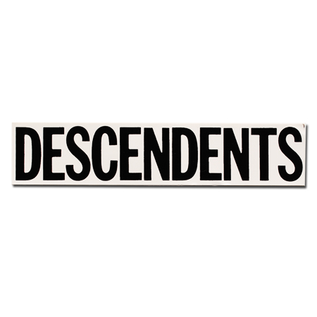 "IMAGE | Descendents - Descendents Vinyl Sticker White  (2.5"" x 12"")"