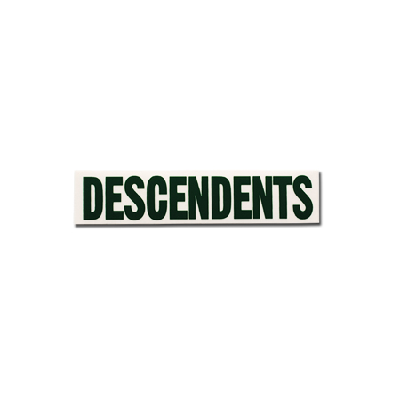 "IMAGE | Descendents - Descendents Logo Green (1.5"" x 7"")"