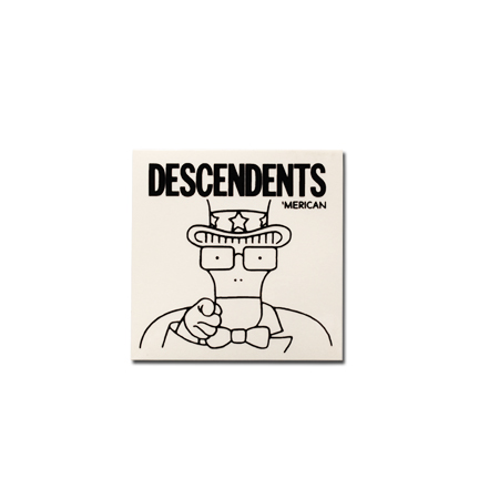 "IMAGE | Descendents - 'Merican Clear Sticker (5"" x 5"")"
