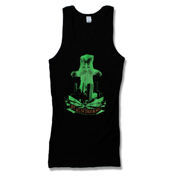 IMAGE | Off With Their Heads - Womens Katzilla Tank - Green