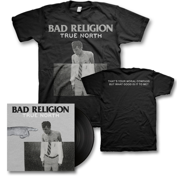 IMAGE | Bad Religion - True North LP (black) & Album Tee