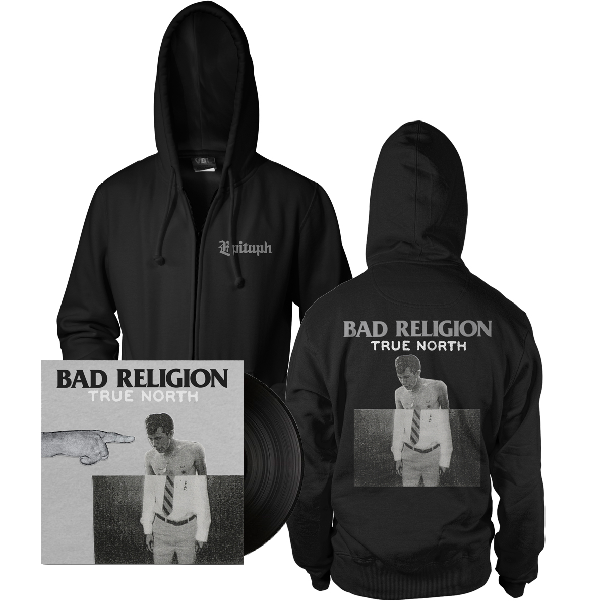 IMAGE | Bad Religion - True North LP (black) & Album Hoodie