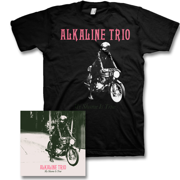 IMAGE | Alkaline Trio - My Shame Is True CD & Mens Album Tee