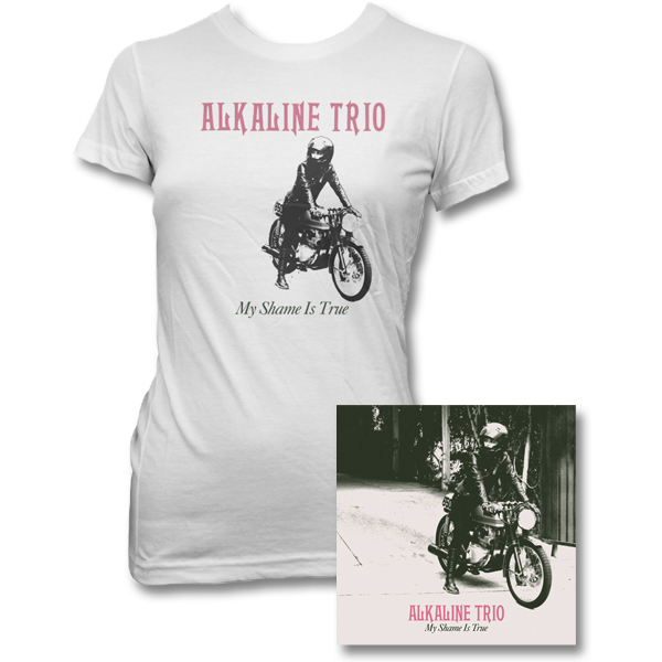 IMAGE | Alkaline Trio - My Shame Is True CD & Womens Album Tee