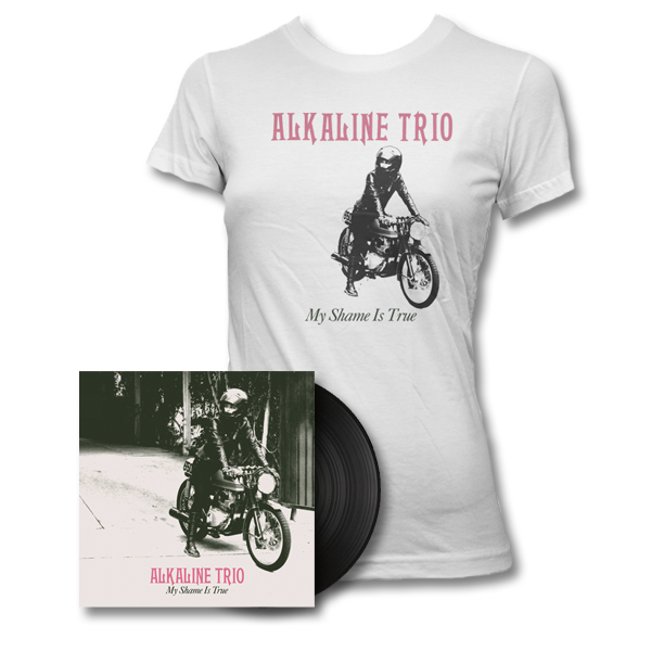 IMAGE | Alkaline Trio - My Shame Is True LP (Black) & Womens Tee