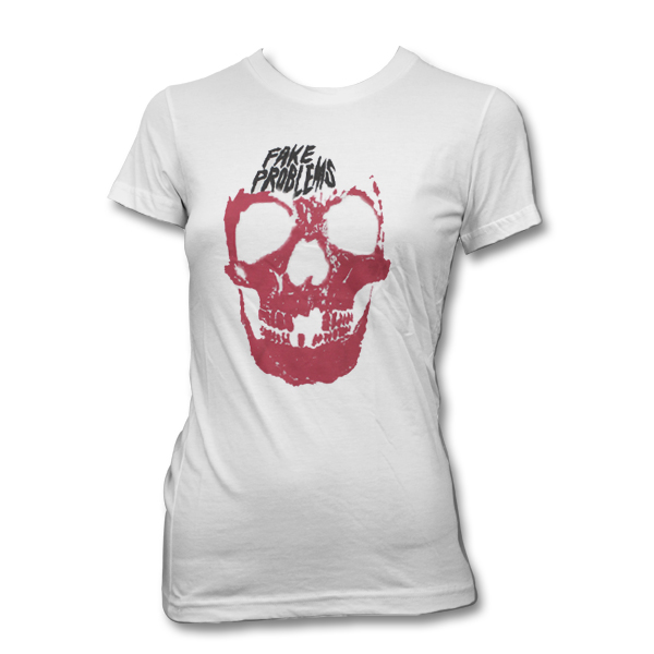 IMAGE | Fake Problems - Womens Skull Tee