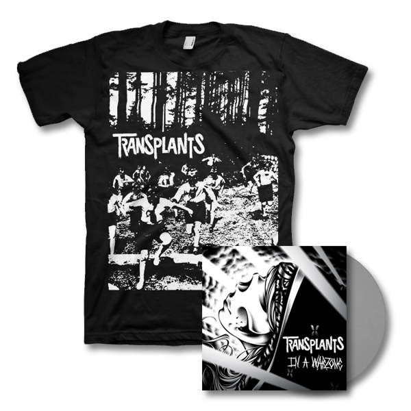 IMAGE | Transplants - In a Warzone LP - Grey & Gasmask Tee