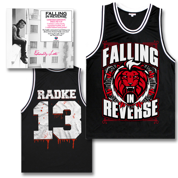 IMAGE | Falling In Reverse - Fashionably Late Deluxe CD & Radke Jersey