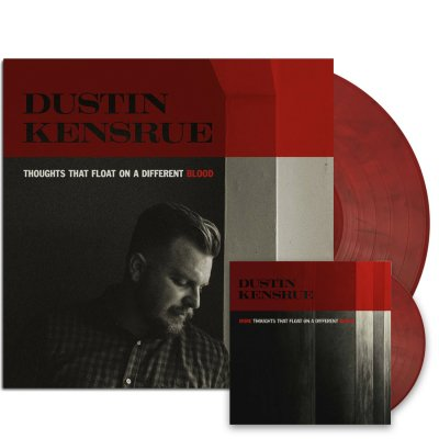 "dustin-kensrue - Thoughts That Float LP (Red/Black) + More Thoughts 7"" (Red/Black)"