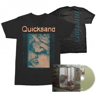 Quicksand - Interiors CD + Tee (Black) Bundle