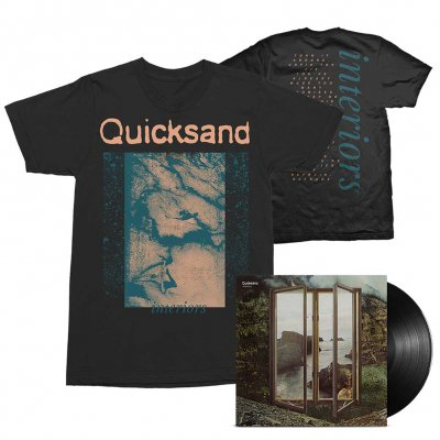 Quicksand - Interiors LP (Black) + Tee (Black) Bundle