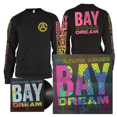 Culture Abuse - Bay Dream LP (Black) + Bay Dream Long Sleeve (Black) Bundle