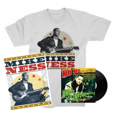 mike-ness - Under The Influence LP (Black) + Woodprint T-Shirt + Screen Print (Signed) Bundle