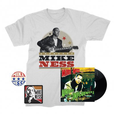 mike-ness - Under The Influence LP (Black) + Woodprint T-Shirt + Enamel Pin + Patch Bundle
