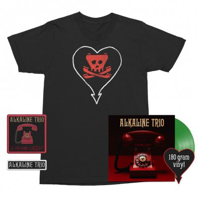 alkaline-trio - Is This Thing Cursed? LP (Green 180g) + Tone Tee (Black) + Patches (2) Bundle